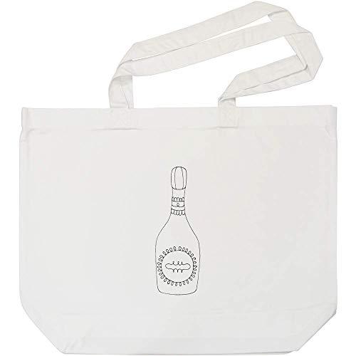 Azeeda 'Champagner-Flasche' Weiße Einkaufstasche (BG00005028)