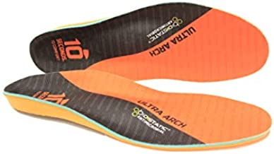 10 Seconds 3810 Ultra Support Insoles, M 10.10.5, W 11.5/12, 1 Pair