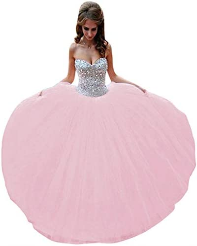 Lovelybride Crystal Beaded Pink Quinceanera Dress 2015 Party Debutante Gowns 4 Pink product image