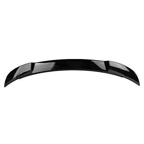AutoForever Pre-Painted Rear Trunk Spoiler Compatible with 2011-2017 Dodge Charger SRT8 Style Trunk Boot Lip Spoiler Wing Add On Deck Lid Bright Black