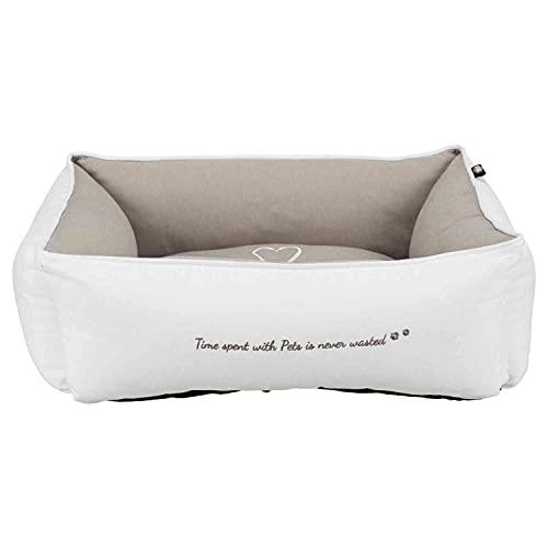 Trixie 38237 Bett Pet's Home, 60 × 50 cm, weiß/taupe