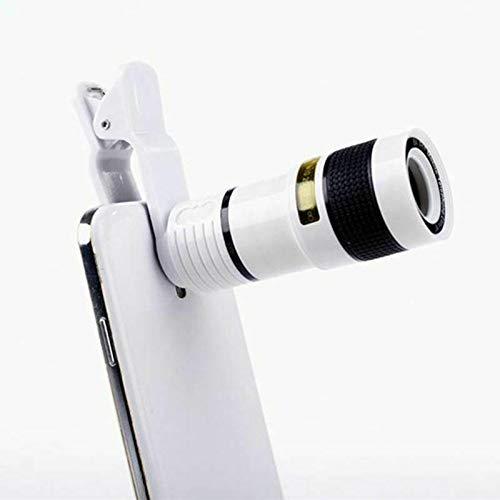 MeterMall Mode voor Universele 12X Zoom Focusing Mobiele Telefoon Telefoon Telescoop Lens HD Externe Camera Lens, Kleur: wit