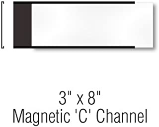 SmartSign Pack of 25 Magnetic 'C' Channel Label Holders | 3