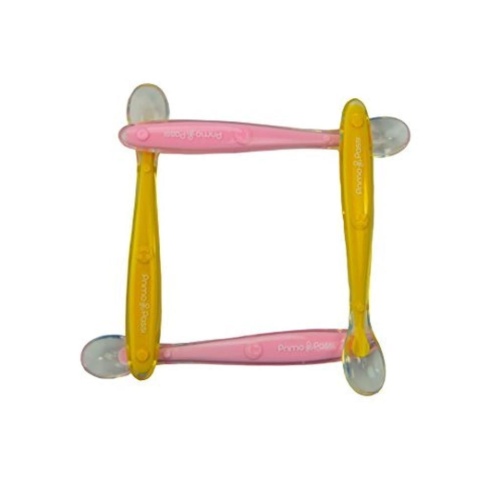 二度ラグ一生Primo Passi Silicone Spoon 4 Pk (Pink/Yellow) [並行輸入品]
