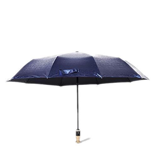 NBLL Paraguas Completamente automático, Paraguas Plegable, Marco de Acero de Diez Huesos, Estabilidad Fuerte, Anti-Ultravioleta, a Prueba de Viento, Adecuado para Hombres, Mujeres y niños