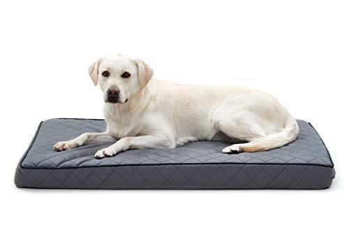 Woofery - Hundebett Hundematte Stitch - orthopädisch rutschfest XL 136 x 84 Grau