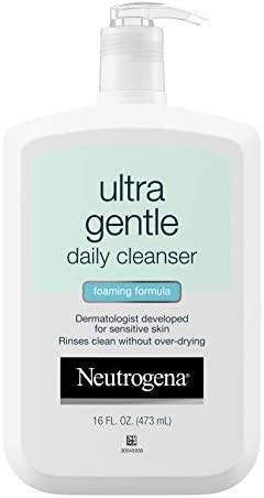 Neutrogena Ultra Gentle Daily Facial Cleanser for Sensitive Skin Oil Free Soap Free Hypoallergenic product image