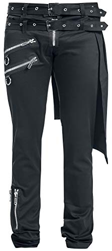 Vixxsin Graves Pant Slim Fit Hombre Pantalones de Tela Negro, Estrechos