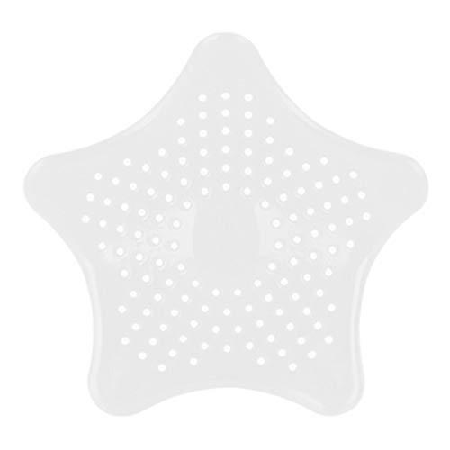 Lanking Waschbecken Filter, Silikon Küche Spüle Kanalisation Abfluss Sieb Silikon Ablaufrost Badewanne Haarsieb(Weiß)