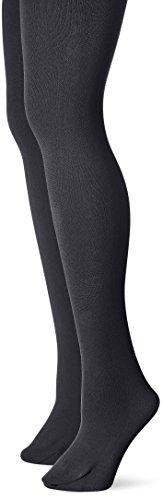 Muk Luks Women's Fleece Lined 2-Pair Pack Tights, Black, Small