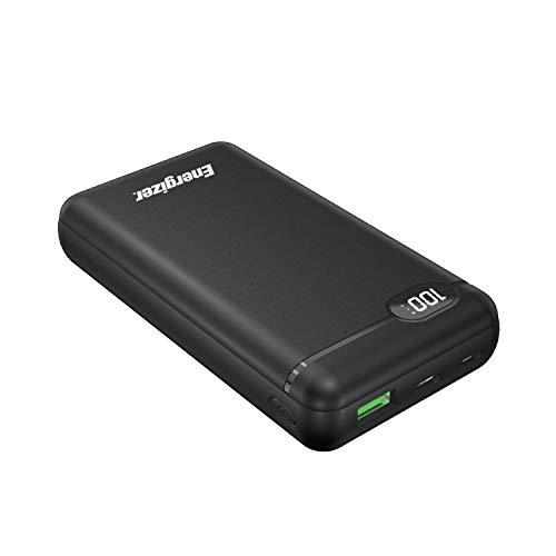 Energizer 732731 Notstromakku 20000 mAh 2 USB-A/USB-C PD 18 W + LCD – Schwarz – 732731