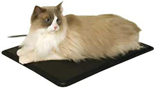 K&H PET PRODUCTS Extreme Weather Outdoor Kitty Pad, Heated, Black, 40W