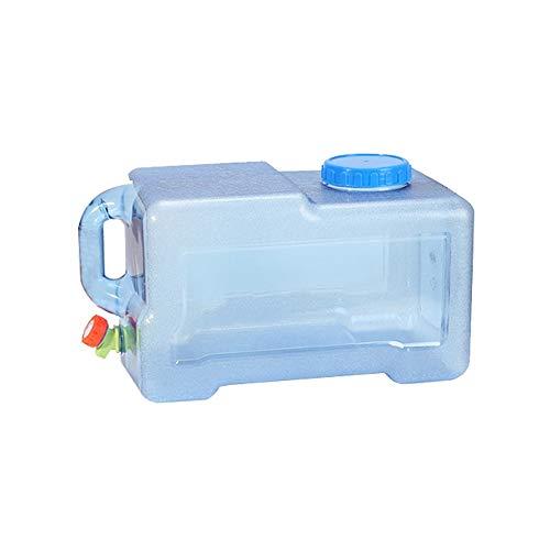 FEIYAN HOME-Water storage bucket Outdoor-Eimer Haushaltswasserspeicher Trinkauto Kunststoff PC Geladen Mineral Reinwassertank Haushaltswasserspeicher Gürtel Hahn 22L / 25L (Size : 22L)