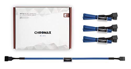 Noctua NA-SEC1 chromax.blue, 3-Pin/4-Pin Verlängerungskabel 30cm, Blau