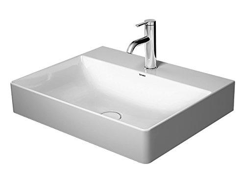 Duravit Waschtisch DuraSquare 600mm ohne Überlauf geschliffen, weiß, WG, 23536000711