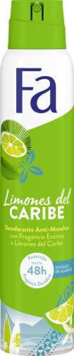Fa - Desodorante Spray Limones del Caribe - 200ml (pack de 6) Total: 1200ml