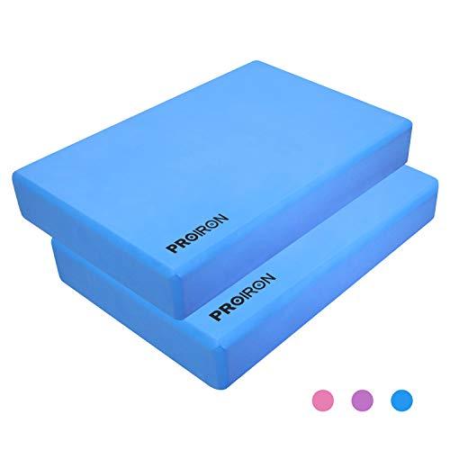 PROIRON Blocco Yoga - Blocchi Yoga mattoncino Yoga Block Accessori per Yoga Mattone in Schiuma espansa Eva Foam Brick - Diversi Colori (Blu, Un Pezzo)