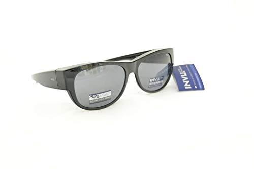 INVU Unisex Polarisierte Sonnenbrille EasyFit E2603 Grau (E2603A), Linse Grau