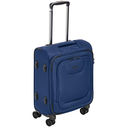 AmazonBasics Expandable Softside Carry-On Spinner Luggage Suitcase With TSA Lock And Wheels - 20.4 Inch, Blue