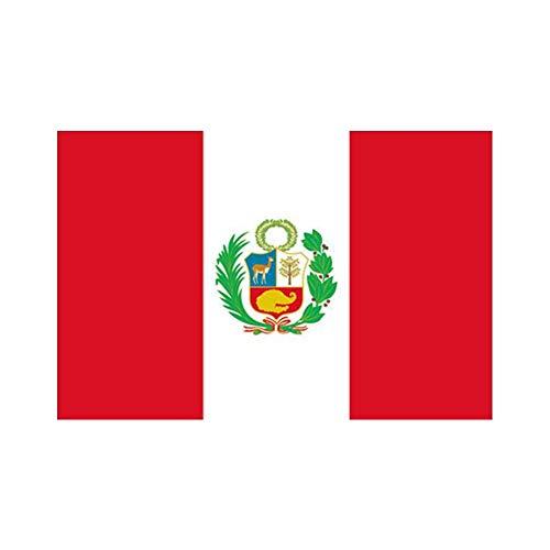 Newin Star 3X 5 FT Peru Flag Polyester Fiber Peru Banner Durable Portable Peru Flag for Outdoor Indoor Home Garden Kitchen