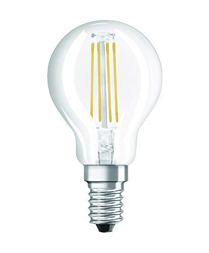 Osram LED Star Classic P Lampe, in Tropfenform mit E14-Sockel, nicht dimmbar, Ersetzt 40 Watt, Filamentstil Klar, Warmweiß - 2700 Kelvin, 1er-Pack