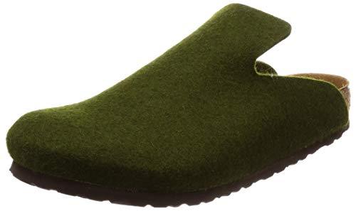 BIRKENSTOCK Unisex-Erwachsene Davos Pantoffeln, Olive (1011222), 36 EU