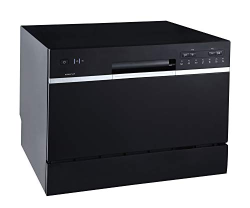 EdgeStar DWP62BL 6 Place Setting Energy Star Rated Portable Countertop Dishwasher - Black