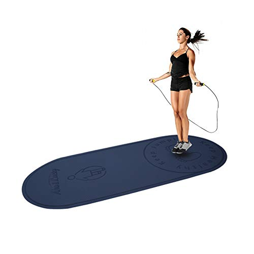 "Jump Rope Mat,24""63""1/4""-Designed mat for Indoor Jumping-Extends The Life of Jump Rope-Protect Your Indoor Floor-Absorbs The Impact on Joints,Knees and Back (Blue)"