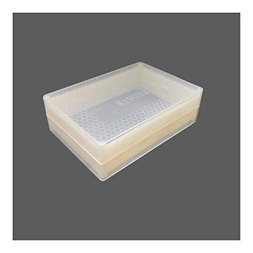 MINGMIN-DZ Dauerhaft 10 Stück Bienenzucht Werkzeug 500g Honig Kassette transparentes Plastik Nest Honig Nest Honig Box Nest Removable sauber und gesundheitlich (Size : 500g Nest Honey Box)