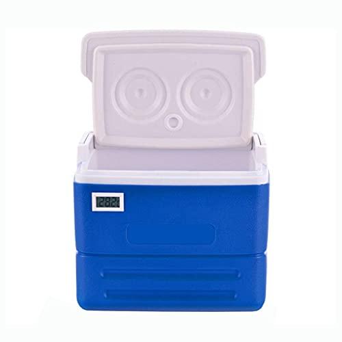 Refrigerador/congelador portátil compacto vehículo coche mini nevera nevera caja con pantalla termómetro para camping, barbacoas, portón trasero y actividades al aire libre – 8L