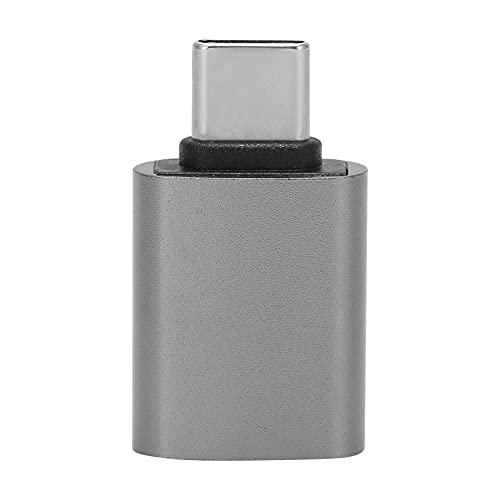 minifinker Convertisseur de Type C, Adaptateur de Type C pour connecter Plusieurs appareils Dissipation Thermique Rapide Portable pour téléphone Portable Ordinateur Tablette(Gris)
