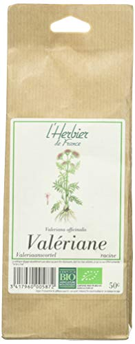 L'Herbier de France Valériane Racines Bio Sachet Kraft 50 g