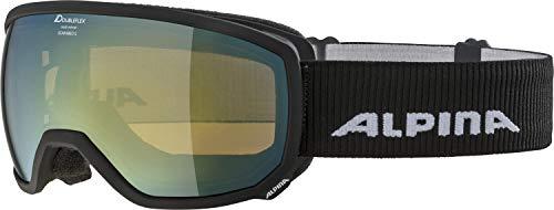ALPINA SCARABEO S Skibrille, Unisex– Erwachsene, black matt, one size