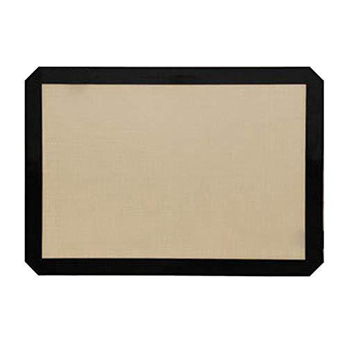 LOVIVER Perforierte Silikon Backmatte Antihaft Backofen Folieneinlage für Küchenutensilien für Kekse/Brot/Makronen/Kekse - Schwarz