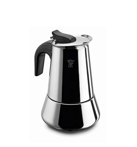 Pezzetti Promab Kaffeemaschine 4 Tassen Natur Moka 4 Tazze Induzione Steelexpress