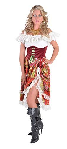 narrenkiste M212106-XL Bordeaux-rot Damen Zigeuner Kleid Ungarisches Kostüm Gr.XL
