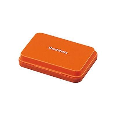 シヤチハタ スタンプ台 小形 朱色 盤面サイズ:40×63mm 油性顔料系 品番:HGN-1-OR 注文番号:61252806 メーカー:シヤチハタ