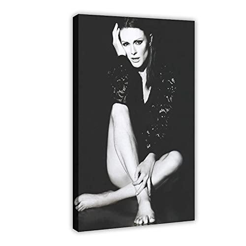 American Film And Television Attrice Julianne Moore 5 Poster di tela per camera da letto Decor Sport Paesaggio Ufficio Camera Decor Regalo 50 × 75 cm Frame-style1