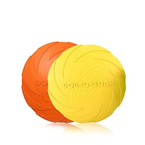 PETCUTE Frisbee Perros Volar Discos Juguete para Perros interactivos Frisbee 2 Piezas ø 18 cm