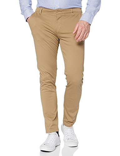 Dockers Smart Supreme Flex Alpha Skinny-WONDERKNIT Pantalones, Marrón (C00086 New British Khaki 0000), 32W / 32L para Hombre