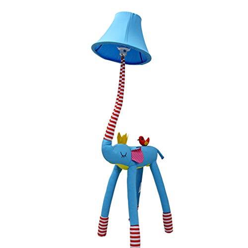 Standleuchten Kreative Cartoon Schöne Elefanten Nase Stehlampe Schlafzimmer Lampe Wohnzimmer Kinderzimmer Rustikalen Stil Tuch Lampe (Farbe : Blau-Dimming)