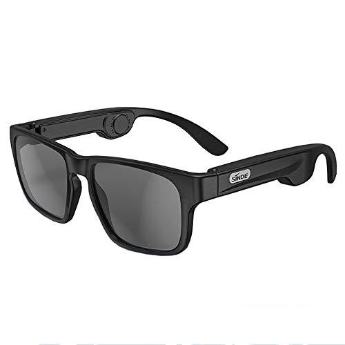 No/brand Smart Sonnenbrille mit Knochenleitung Bluetooth Kopfhörer Damen Herren Polarisierte Brille Eingebautes Mikrofon Musikhören und Telefonanrufe