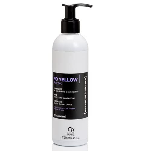 Essential Haircare - No Yellow Shampoo - Trattamento Professionale Antigiallo per Capelli Biondi e con Meches - 250 ml