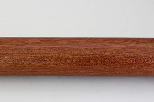 Rundhandlauf Geländer Handlauf Rundholz Griff in vielen Holzarten Mahagoni d=42mm lackiert l=210cm