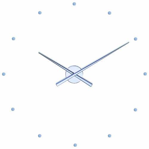 NOMON Horloge Murale OJ Argent 80 CM Design Moderne