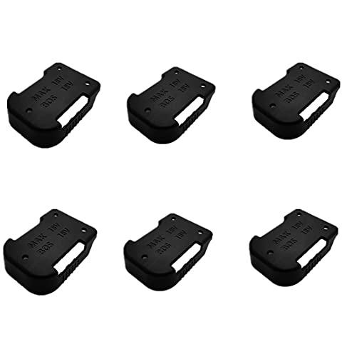6 soportes de batería Stealth, soporte de batería, soporte para herramientas ABS, soporte para sustitución para baterías Bosch 18 V BL1830 BL1840 BL1850 BL1860 de iones de litio