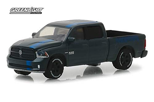 2017 Dodge Ram 1500 Pick Up Truck, Dark Blue - Greenlight 30013/48 - 1/64 Scale Diecast Model Toy Car