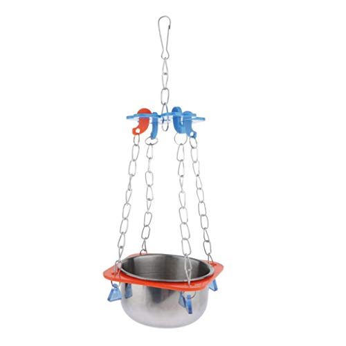 homozy Bird Parrot Water Feeder Feeding Food Bowl for