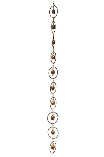 Antike Graffiti rc-Bell-ir 4x 96x 4-Zoll geflammter Kupfer Bell Regen Kette–Mehrfarbig