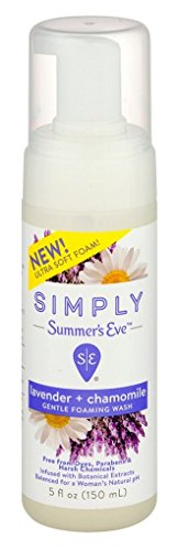 Summers Eve Simply Foam Wash 5 Ounce Lavender & Chamomile (150ml) (2 Pack)